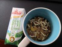 今日早餐:安佳脱脂牛奶+托比叔叔麦片