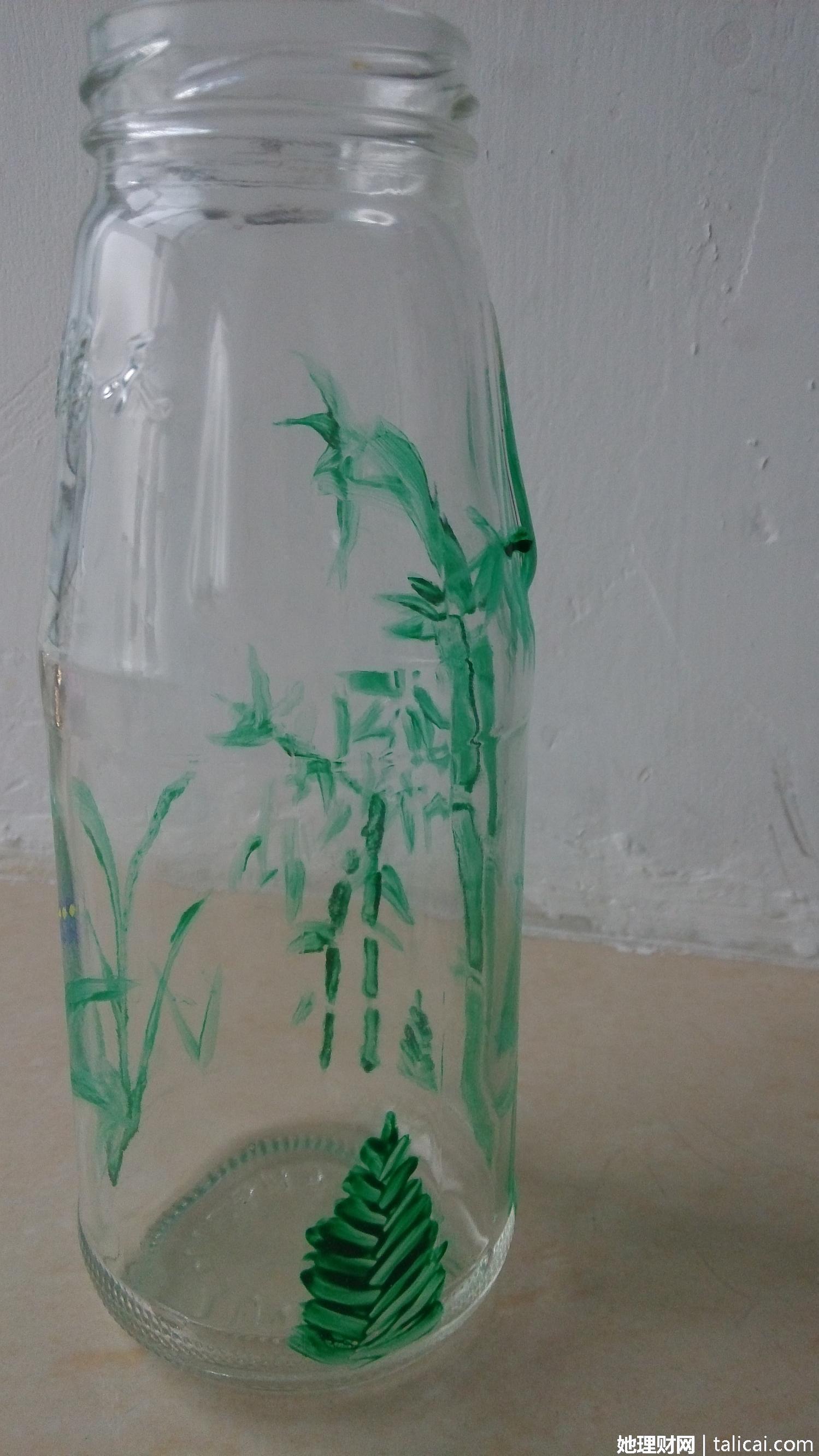 我爱我家#丙烯画玻璃瓶