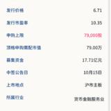 新股申购: 厦门银行10月13号申购