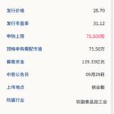 新股申购: 金龙鱼09月24号申购