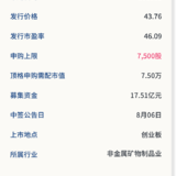 新股申购:美畅股份8月04号申购