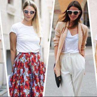 衣橱必备单品之白T恤