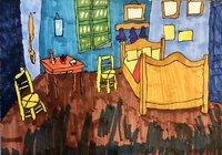 【小花】每日一画-梵高的卧室 (5.7)
