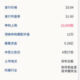 新股申购:京北方4月23日申购