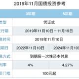 2019年11月国债购买指南