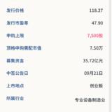 新股申购: 爱美客09月17号申购