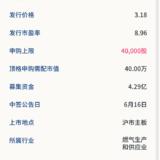 新股申购:新天绿能6月12号申购