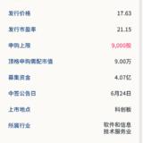 新股申购:捷安高科6月22号申购