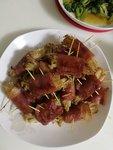 介绍一个好吃简单的菜:培根金针菇卷