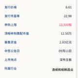新股申购: 百亚股份09月09号申购