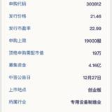 新股申购:易天股份12月25日申购