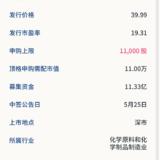 新股申購:宇新股份5月21號申購