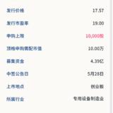 新股申購:浙礦股份5月26日申購