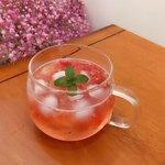 自制草莓气泡水