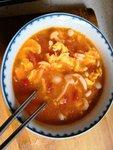 减脂期美食——番茄酸汤白玉菇虾仁