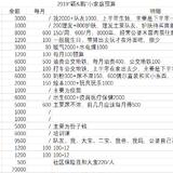 2019年度预算&1月支出预算