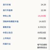 新股申购: 帅丰电器09月24号申购